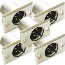 Qty 5-Xlr 4 pin/pole Macho Soldar conector de chasis de montaje del panel módulo Plug