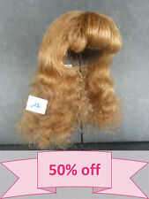 "DISCOUNT 50% - Human Hair DOLL WIG size 15"" (38 cm). Long red-brown hair. BRAVOT"
