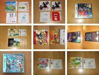 JUEGOS NINTENDO 3DS Y DS -  COMPLETOS EDICION ESPAÑOLA - ELIGE EL QUE PREFIERAS