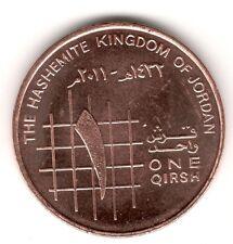 Jordan 2011 UNC 10 Fils 1 Piastre Qirsh Circulation Coin King Abdullah II