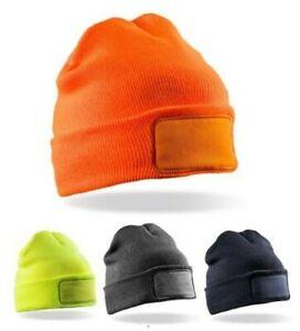 Double Tricotage Thinsulate™ Imprimantes Bonnet de Ski Jaune Orangé Bleu Gris