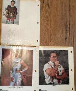 Collection of 45 WWF autographed 8x10 photos WWE