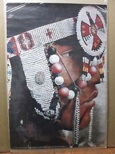 Indian Profile beads Vintage woman Poster in#G3264