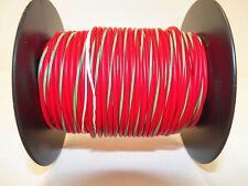 100 FOOT SPOOL 18 GAUGE GXL HI TEMP WIRE RED/GREEN STRIPE AUTOMOTIVE   FEET