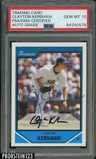 2007 Bowman Clayton Kershaw RC Rookie Signed AUTO Dodgers PSA/DNA Authentic
