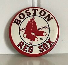 "1970s Boston Red Sox Pin Button 1.5"" - Button Up Co. 1202 E. Maple Rd., Troy, MI"