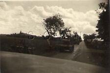 WWII Original German Large RP- Panzer Tank Mark IV- Column Moving Down Dirt Road
