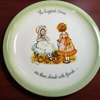 Vintage Holly Hobbie Collector's Edition 1972 Plate Happy Talk Sayings