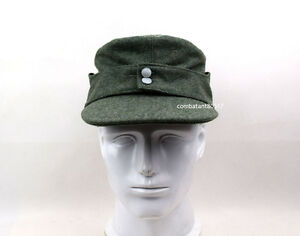 WW2 German Wool Officer M43 WH EM fieldPanzer Cap Hat Green 57 58 59 60cm