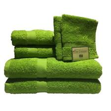 NEW Espalma Deluxe 6-Piece Cotton Bath Towel Set in Lime Green