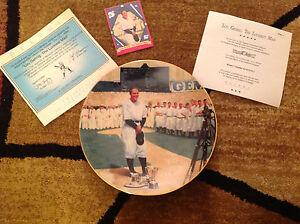 Lou Gehrig Luckiest Man 22 Kt Gold Rim Plate Bradford Exchange Baseball Legends