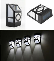 SOLAR POWER POWERED DOOR FENCE WALL LIGHTS LED OUTDOOR GARDEN PATH LIGHTING