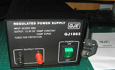 QJE 10-12amp LINEAR 240v 12v DC Power Supply PSU for CB Two-Way Radio etc
