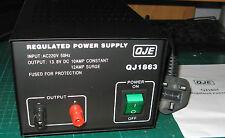 Qje 10-12amp Lineal 240v 12v Fuente De Alimentación Dc Psu Para Cb Radio de dos vías, etc..