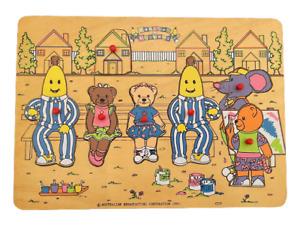 Bananas in Pyjamas Vintage Wooden Puzzle 1993 *Complete* Rare