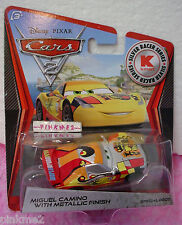 Disney PIXAR CARS 2 ✿ MIGUEL CAMINO with Metallic Finish✿Kmart Silver Racer✿