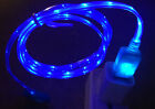 3ft LED el light-up data sync USB charger cable FOR apple iPhone 8 7 6 plus 5s X