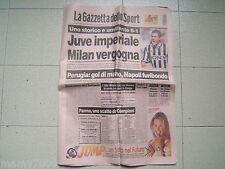 LA GAZZETTA DELLO SPORT=JUVE IMPERIALE MILAN VERGOGNA=MILAN-JUVENTUS 1-6