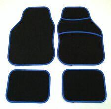 BLACK & BLUE TAPPETINI AUTO PER FIAT PUNTO BRAVA PANDA STILO 500