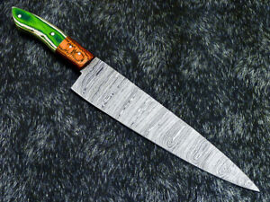 """12"""" Kitchen Chef Knife """"Handcrafted Damascus Steel Blade"""" Multi Purpose WD-5728"""