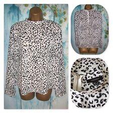 NEW LADIES PRIMARK ATMOSPHERE TOP SIZE 14,Gorgeous Animal High Neck print Blouse