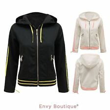 Zip Waist Length No Pattern Casual Coats & Jackets for Women
