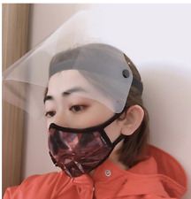 Anti-splash Protective Face Shields with Clear Flip Visor (Pack of 5)