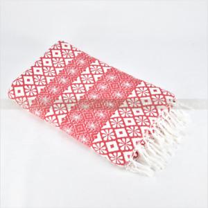 Turkish Cotton Towel Beach Bath Gym Hammam Peshtemal Andalus Fouta Towel Red