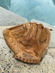 """Vintage Mickey Mantle Rawlings Pro Design """"Well"""" Pocket Leather Baseball Glove"""