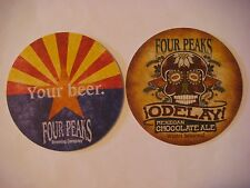 BEER Bar Coaster ~*~ FOUR PEAKS Brewing Odelay Mexican Chocolate Ale ~ Tempe, AZ