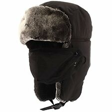 Winter Trooper Trapper HuntingHat Cap Ushanka Russian Hats Ear Flaps Strap