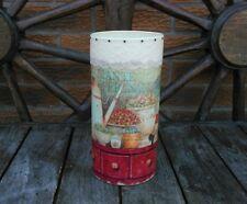 Shabby chic vase, handmade, decoupage, tall vase, Valentine gift, flower vase