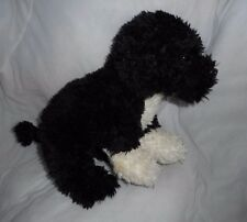 GANZ WEBKINZ SIGNATURE PORTUGUESE WATER DOG BLACK WHITE STUFFED ANIMAL PLUSH TOY