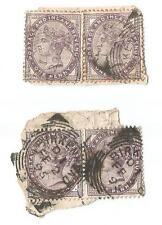 1d Lilac - SG172 x 4  - Birkenhead Postmarks 1894 & 1895 - Used VFU