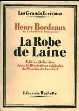 Livre ancien la robe de laine Henry Bordeaux book