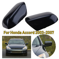 For 2003-2007 Honda Accord Black Door Mirror Cover Cap Housing Trim Right+Left