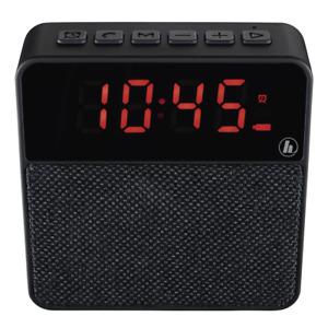 Hama Clock Radio FM Alarm Pocket Mobile Bluetooth Speaker Aux In Micro SD  Black