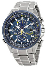 Citizen AT8020-54L Men's Blue Angels Atomic World Time Chronograph A-T Watch