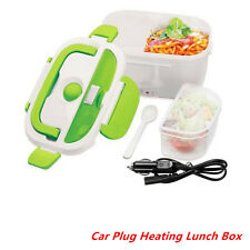 Car Plug Heating Lunch Box Set Outdoor Picnic Food Warmer Container Portable 12V