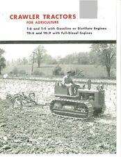 Ih International Crawler Tractors For Agriculture Brochure T 6 T 9 Td 6 Td 9 T6