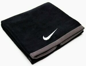 Nike Medium Fundamental Sports Fitness Gym Beach Holiday Towel 35cm x 80cm Black