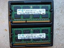 2x 2GB Ram Samsung 4GB DDR3 PC3-10600s  für Notebook  M471B5673FH0-CH9