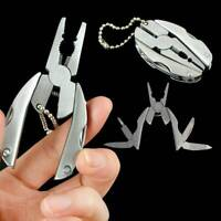 Pocket Multi Function Tools Set Mini Foldaway Keychain Pliers Knife Screwdriver