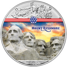 USA - 1 Dollar 2020 - Silver Eagle - Mount Rushmore (2.) - 1 Oz Silber ST
