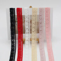 8 Yards Elastic Band Lace Ribbon Trim DIY Underwear Garment Wedding Dress Craft