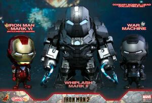 Hot Toys Cosbaby Iron Man 2 Movie 3-Figure Movie Box Set War Machine Whiplash