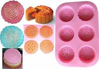 MOONCAKES 6 Different Shapes Silicone Mould: Soap Candle Cup Cake MOLD