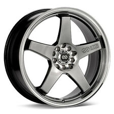 17 ENKEI EV5 BLACK RIMS 17x7 +38 5x100 5x114.3 FITS RSX CIVIC LANCER ECLIPSE XB