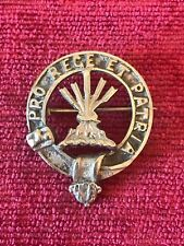 Early 1900's Cameron Clan Glengary Badge Down Pointing Arrows White Metal