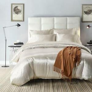 Satin Silk Bedding Queen King Size Solid Bedsheet Double Designer Bedding Sets